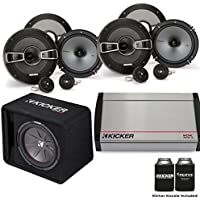 Kicker 40KX8005 800 Watt 5-channel amp, Two Pairs of KS 6.5 Component Speakers, & a 12 CompR Loaded Subwoofer