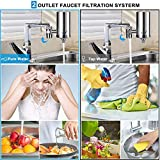 LCF Water Filter Faucet, Food Grade 304 Stainless