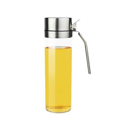 Cruet Aceite de Cocina Puede Botella de Aceite de Vidrio a Prueba de Fugas Inicio vinagre