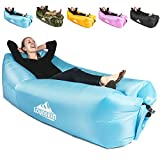 KyRush It Inflatable Lounger air couch chair sofa pouch | Lazy hammock blow up bag | Lounge outdoor at the beach or camping | Lay loungers chairs are the best outdoor wind hammocks around