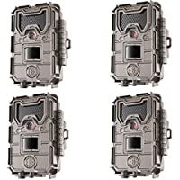 Bushnell 20MP Trophy Cam HD Aggressor No-Glow Trail Camera, Records 1080p Video with Sound (4-Pack)