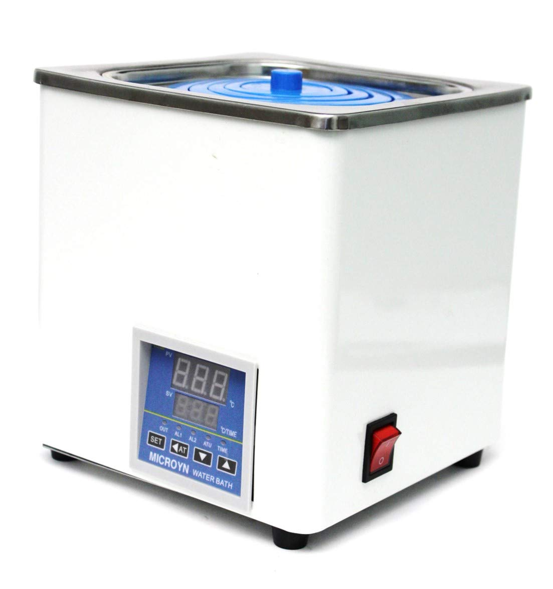 Microyn Digital Thermostatic Water Bath with Selectable Openings, 3L Capacity, 120V/60 Hz (MT-BHS-1)