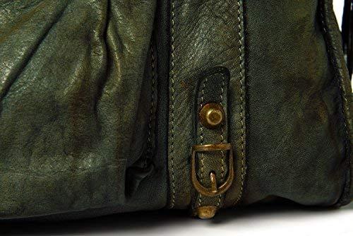 Vintage Donna Vera In Italy Ira Modello Pelle blu Borsa Valle Dallas Made Del Grigio 06qgfS