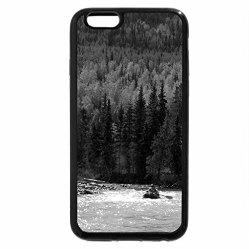 iPhone 6S Plus Case, iPhone 6 Plus Case (Black & White) - Lower Level Eagle River, Alaska
