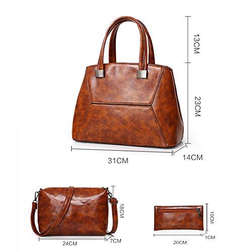 Épaule Main à brown Vintage à Sac Couture Lady Messenger Pochette Sac Sac Mode Main xnqwBTxA0R