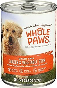 Whole Paws, Chicken & Vegetable Stew, Dog Food (Grain Free), 13.2 oz