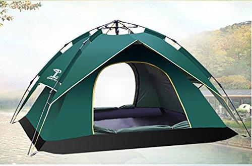 恒久的ラショナルネコポップアップテント ワンタッチテント 3-4人用 ビーチテント 簡単に組み立て アウトドア 紫外線防止 設営簡単 防雨 軽量 ハイキング 防災用 海に最適 3層 分離でき 使用便利