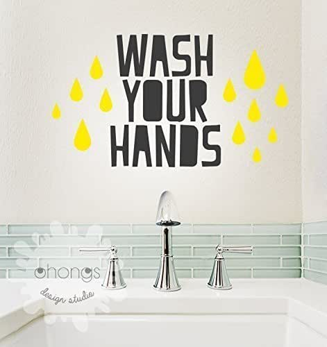 Amazon.com: Wash Your Hands Wall Decal / Bathroom Wall ...