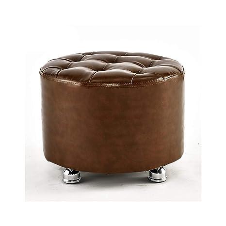 Peachy Amazon Com Asjhk Leather Handmade Footstool Foot Rest Machost Co Dining Chair Design Ideas Machostcouk