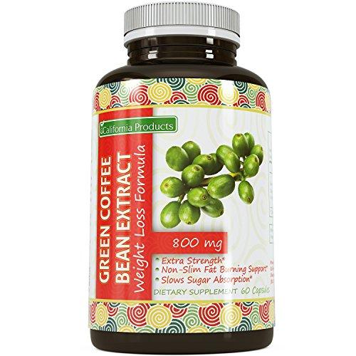 100% Pure Green Coffee Bean Extrait ● La plus haute qualité 800 Mg ● meilleure formule pour la perte de poids sur le marché - Femmes & Hommes ● garantis par les produits de la Californie