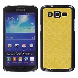 TopCaseStore / la caja del caucho duro de la cubierta de protección de la piel - Wallpaper Pattern Yellow Vintage - Samsung Galaxy Grand 2 SM-G7102 SM-G7105