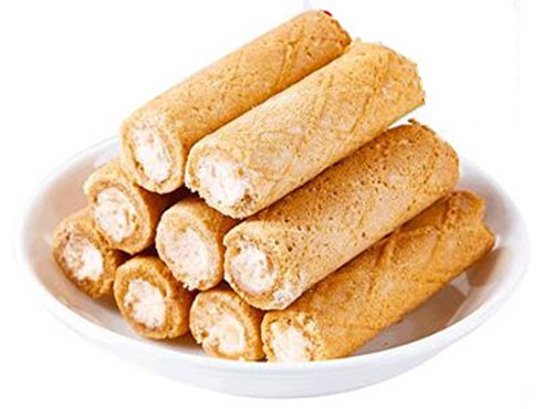 Guangdong Specialty: Crispy Rolls Baked Cookies Strawberry Flavor 500g/17.6oz