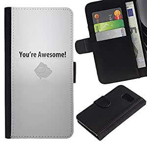 LECELL--Cuero de la tarjeta la carpeta del tirón Smartphone Slots Protección Holder For Sony Xperia Z3 Compact -- Usted es impresionante motivación --
