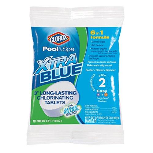 "CLOROX Pool&Spa 23000CLX XtraBlue 3"" Long Lasting Chlorinating Tablets"