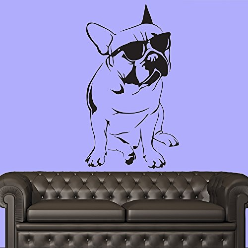 French Bulldog With Sunglasses Canine Pet Dogs Wall Sticker Home Decor Art Decal available in 5 Sizes and 25 colors X-Large - Canine Sunglasses