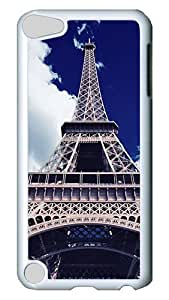 iPod Touch 5 Case, Blue Sky Eiffel Tower PC Hard Plastic Case Cover for Apple iPod Touch 5/ iPod 5th Generation White