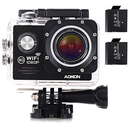 AOKON ASJ70 Action Camera 12MP 1080P HD WiFi 4X Zoom Waterproof Sports Cam 2 Inch LCD...