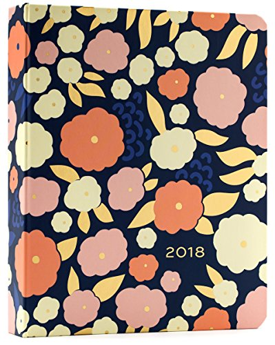 High Note 2018 Floral Pattern in Gold 18-Month Weekly Hardcase Organizer: Stylish, Durable, Beautifully Crafted, Hard-Cover Organizer Featuring Designer Art by Elizabeth Olwen (CHH0302)