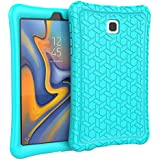 "eTopxizu Case for Samsung Galaxy Tab A 8.0"" 2018, Kids Friendly Light Weight Anti Slip Shockproof Protective Cover Soft Silicone Back Cover Case Compatible with Tab A 8.0 Inch Model SM-T387, Turquoise"