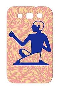 Egyption Man Navy Dirtproof Protective Case For Sumsang Galaxy S3 Spirituality Mythology Egypt Man Religion Philosophy Egyption TPU