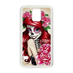 Personalized customization Skeleton cell Phone Case for SamSung Galaxy S5 I9600 with Sugar Skull Ariel fan art at xiaku_1059631