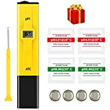 PH Meter, MrLi PH Tester Digital Water PH Tester Pocket Size with 0-14 PH Measurement Range for Household Drinking Water Hydroponic Aquarium Spa Pool Yellow