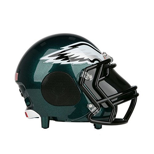 NIMA Portable Bluetooth Speaker, [Officially Licensed by NFL] NFL Football Helmet Stereo Speaker with Built-in-Mic, Hands-free Call, AUX, Built-in-Subwoofer, HD Sound and Bass-Philadelphia Eagles (Eagles Philadelphia Helmet Ultimate)