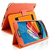 Snugg8482; Samsung Galaxy Tab 3 8.0 Tablet Case - Smart Cover with Flip Stand & (Orange Leather) for Samsung Samsung Galaxy Tab 3 8.0