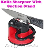 Gadget Hero'S Knife Blade Sharpner With Suction Pad Grinder Safety Portable Home Kitchen Tool.
