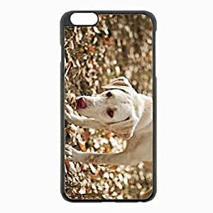 iPhone 6 Plus Black Hardshell Case 5.5inch - dog eyes friend leaves autumn Desin Images Protector Back Cover