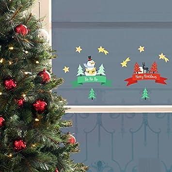 Xmas Fenstersticker Merry Christmas Hohoho Amazon De Kuche Haushalt