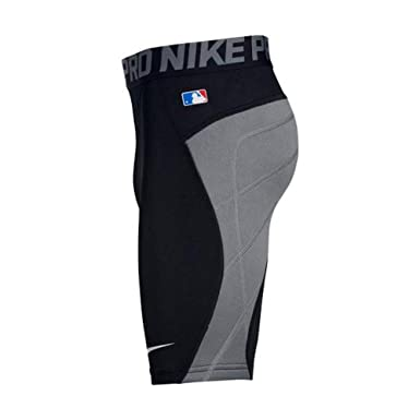 af86429222269 Nike Boy's Pro Heist Baseball Slider Shorts Black/Cool Grey/White Size Small