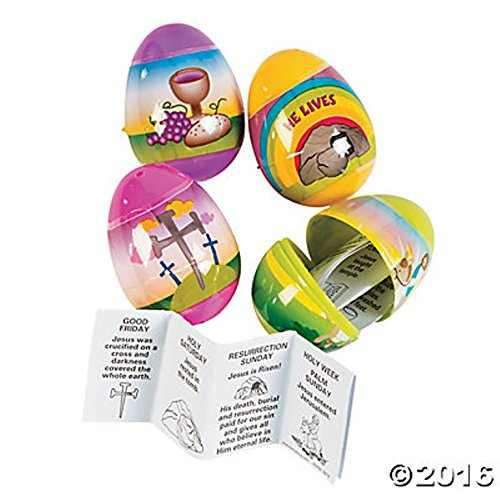 Resurrection Story-Filled Plastic Easter Eggs