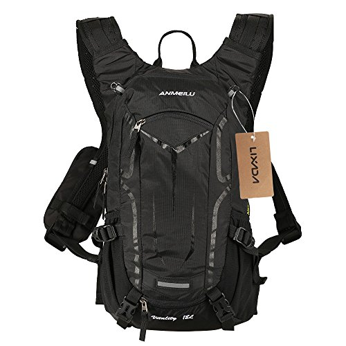 Lixada Cycling Backpack, 18L Bicycle Backpack Waterproof Breathable with Rain Cover for Outdoor Travel Hiking Climbing