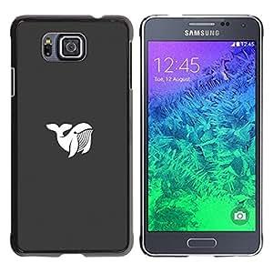 Be Good Phone Accessory // Dura Cáscara cubierta Protectora Caso Carcasa Funda de Protección para Samsung GALAXY ALPHA G850 // Whale Haunt