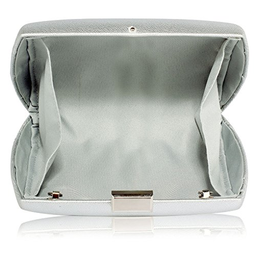 Night Leahward Handbags Women's For Bag Hard Silver Case Wedding Clutch Evening Party Purse Out Dinner xqzZFpwq