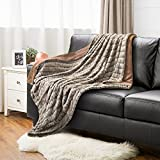 Faux Fur Throw Blanket PV Fleece Bed Throws 50