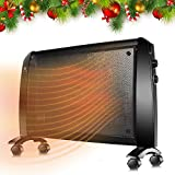 TRUSTECH Mica Heater - 1500W Mica Panel Heater with Adjustable Thermostat, Overheating Auto