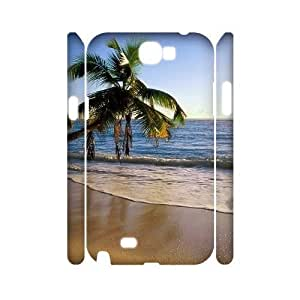 Beach Discount Personalized 3D Cell Phone Samsung Galaxy Note2 N7100/N7102 , Beach Samsung Galaxy Note2 N7100/N7102 3D Cover