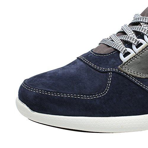 Uomo 7 Rialzo Fino a Blu Sneaker con cm CHAMARIPA Pelle Basket H52C11K013D da Scarpe wqaaUyRvX