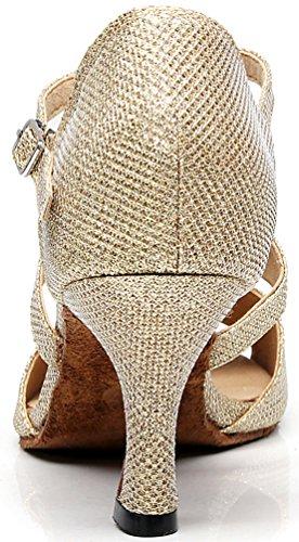 Cfp - Chaussures De Danse En Satin Pour Les Femmes Dorado Or fH7kVU
