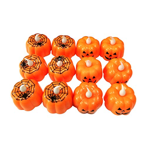 Halloween Decorations Candles Tea Lights, Battery Operated, Flickering Flameless (12PCS) by Friendship Shop (Image #6)
