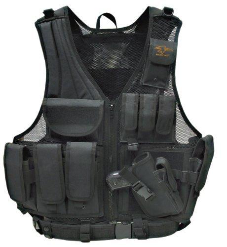 Galati Gear Standard Deluxe Tactical Vest (Black) by Galati Gear by Galati Gear