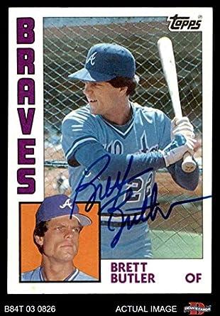 Amazoncom 1984 Topps 77 Brett Butler Atlanta Braves