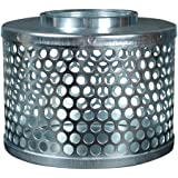 Apache 70001500 Round Hole Suction Strainers, Plated Steel, 3""