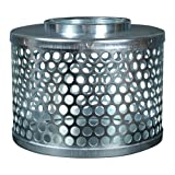 Apache 70000008 Round Hole Suction Strainers, Plated Steel, 1.5''