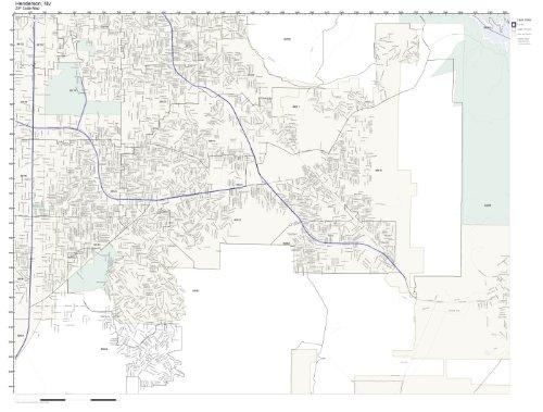 (ZIP Code Wall Map of Henderson, NV ZIP Code Map)
