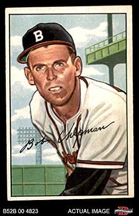 1952 Bowman 228 Bob Chipman Boston Braves Baseball Card Deans Cards 5