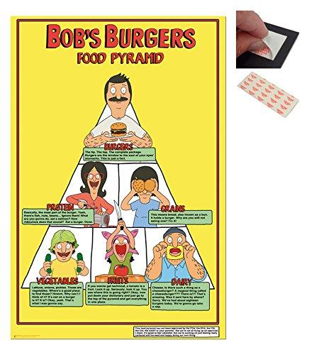 Bundle - 2 Items - Bobs Burgers Food Pyramid Poster - 91.5 x