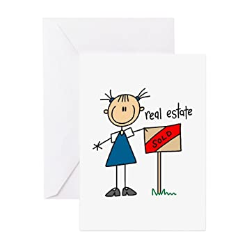 Amazon cafepress real estate agent greeting card note cafepress real estate agent greeting card note card birthday card blank m4hsunfo
